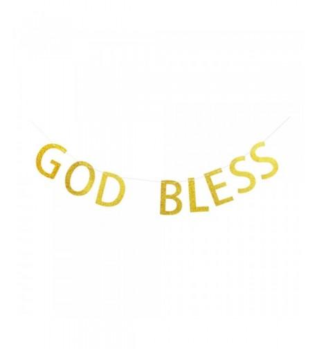 Banner Glitter Letters Baptisim Christening