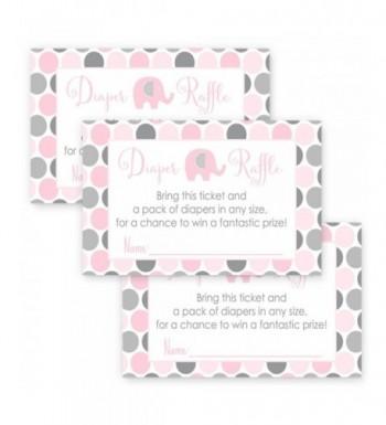 Elephant Diaper Raffle Cards Shower