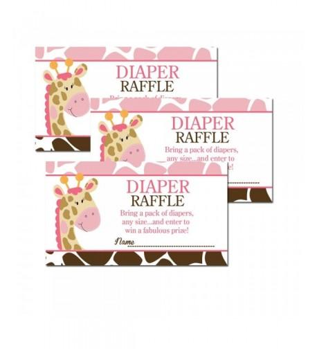 Giraffe Shower Diaper Tickets 20 pack