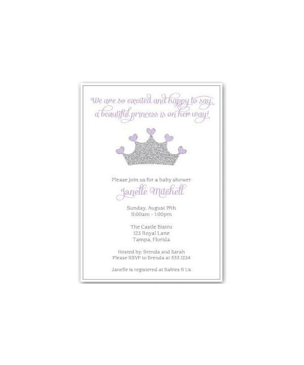 Princess Invitations Sparkle Sprinkle Envelopes