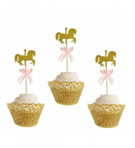 Glitter Toppers Cupcake Birthday Decoration
