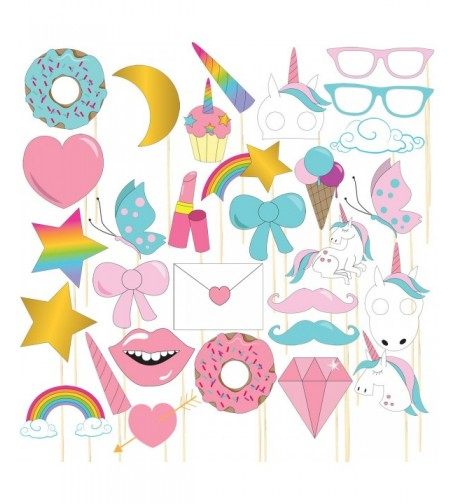Unicorn Photo Booth Props Pre Assembled Accessories