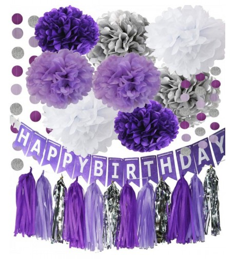 Purple Party Decorations Birthday Garland