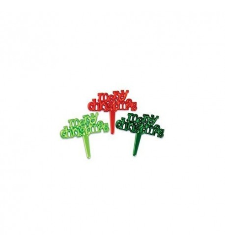 Merry Christmas Designer Cupcake Toppers