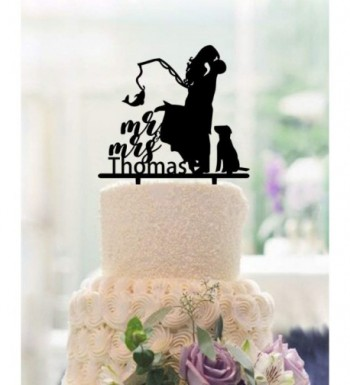 Fishing Wedding Toppers Personalized Acrylic