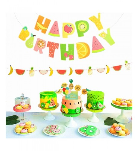 JeVenis Frutti Birthday Decoration Toppers
