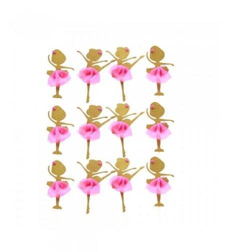 AMZTM Glitter Ballerina Birthday Decoration