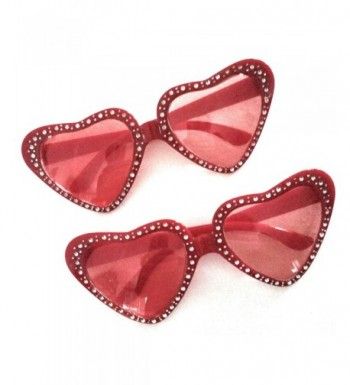 Valentines Novelty Glasses Shaped Sparkly