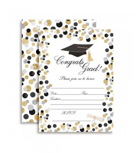 Classic Polka Graduation Invitations envelopes