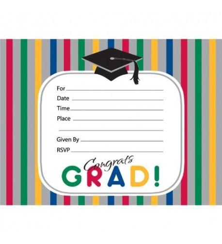Creative Converting 892473B Graduation Invitations