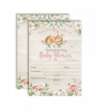 Woodland Watercolor Invitations Envelopes AmandaCreation
