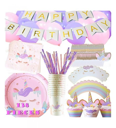 Unicorn Party Supplies Set Birthday
