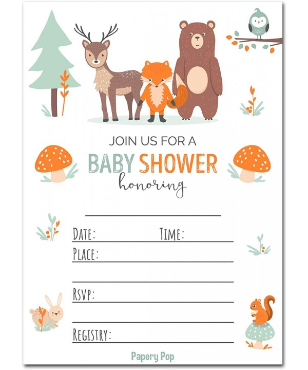 Papery Pop Shower Invitations Envelopes