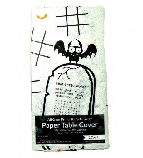 Childrens Halloween Activity Paper Tablecloth