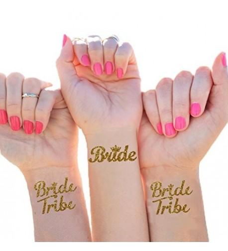 Temporary Bachelorette Waterproof Bridesmaid Metallic