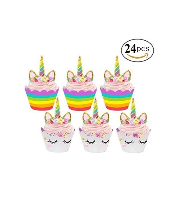 Magical Unicorn Cupcake Decorations Eco Friendly