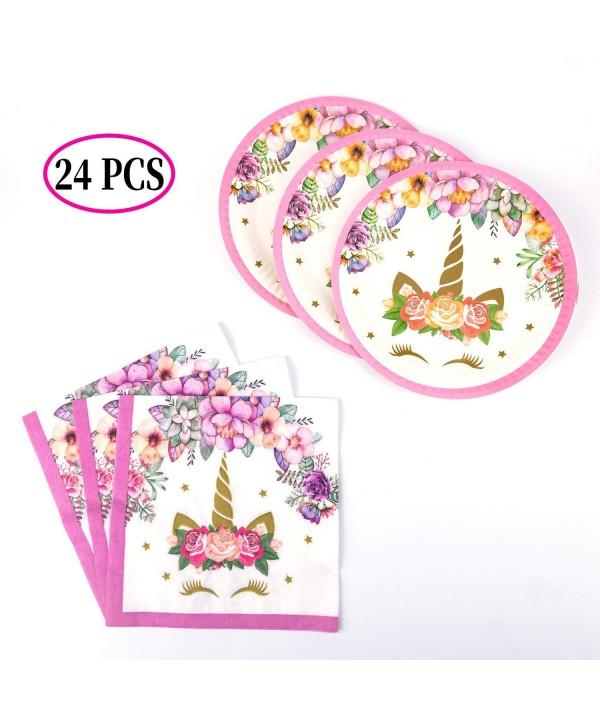 SAVITA Unicorn Napkins Supplies Birthday