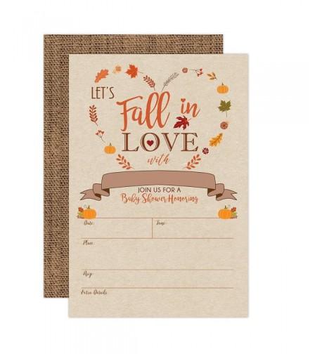 Pumpkin Shower Invitations Neutral Envelopes