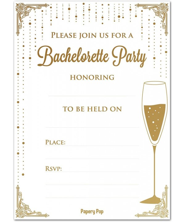 Bachelorette Party Invitations Envelopes Pack