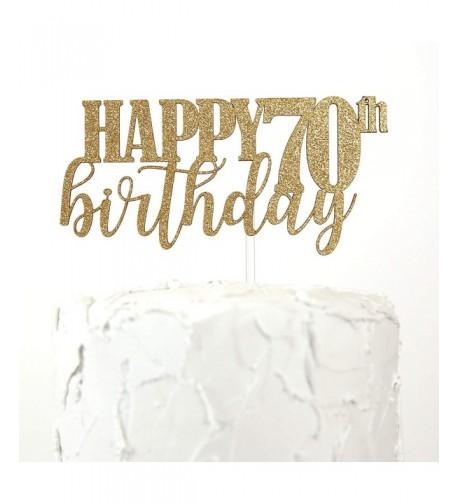 NANASUKO 70th Birthday Cake Topper