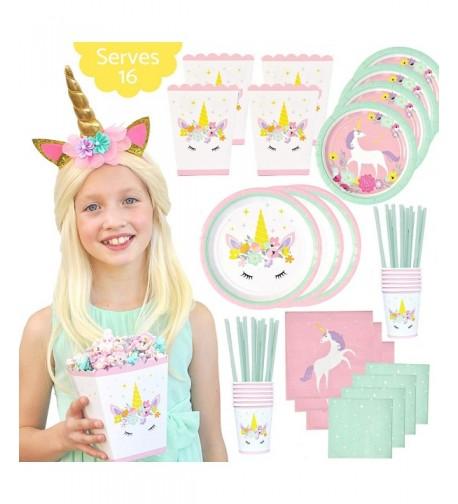 Unicorn Birthday Party Supplies Set