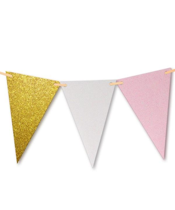 Vintage Glitter Triangle Bunting Birthday