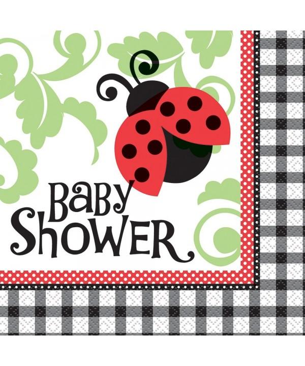 Ladybug Baby Shower Napkins 16ct