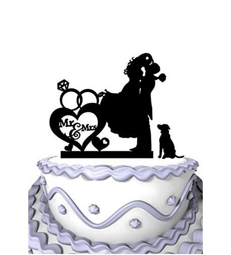 Meijiafei Romantic Dogwith Cursive Silhouette