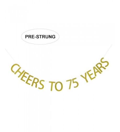 Gold Glitter Cheers Years Banner