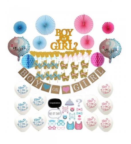 66 Pc Gender Reveal Party Supplies