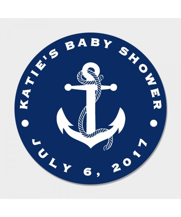 Totally Customizable Anchor Party Stickers