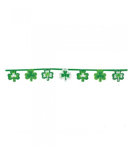 Patricks Shamrock Felt Garland Accents