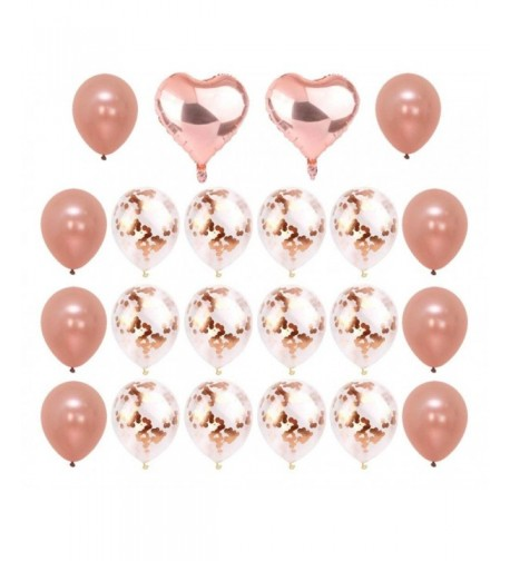 Rose Gold Confetti Balloons Pieces