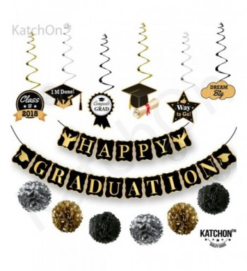 HAPPY GRADUATION Banner Hanging Swirls