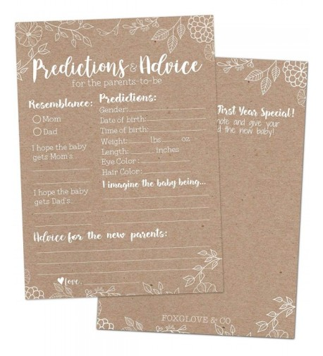 Rustic Shower Prediction Advice Cards