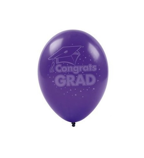 Party902 17148 Purple Graduation Balloons