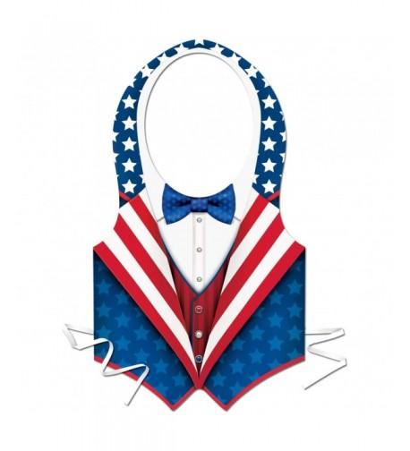 Plastic Patriotic stripes design Accessory