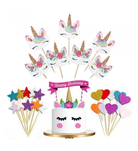 Cupcake NEWANIMA Birthday Decorations Supplies