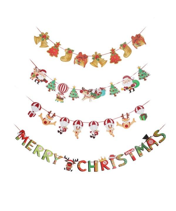 Christmas Banners Garlands Decoration Fireplace