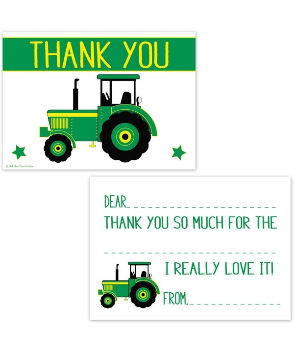 Green Tractor Fill Thank Cards