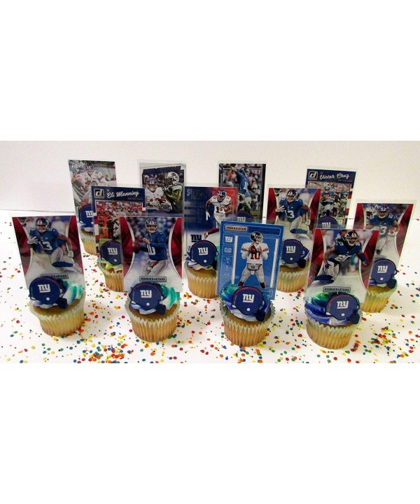 Giants Football Birthday Cupcake Topper