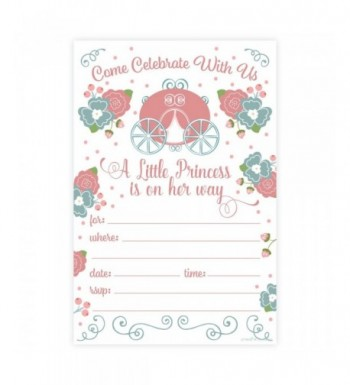Princess Girl Baby Shower Invitations