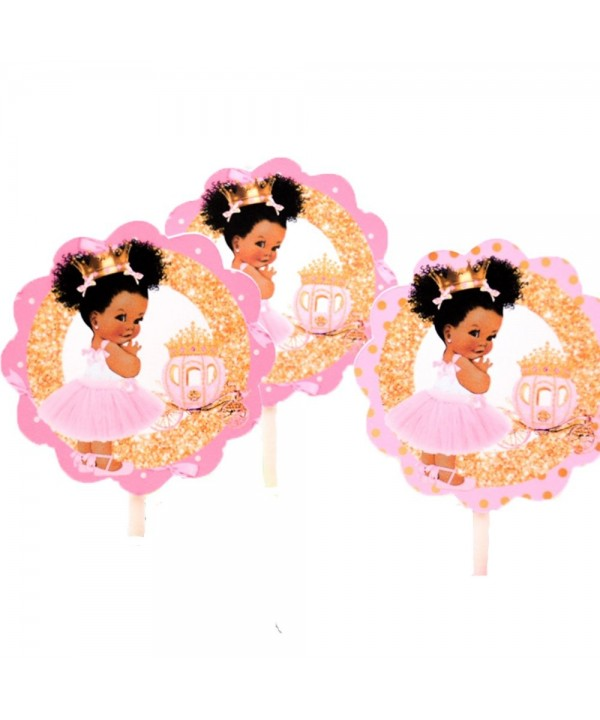 African American Princess Cupcakes Birthday