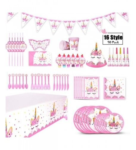 Unicorn Party Supplies Birthday Decorations