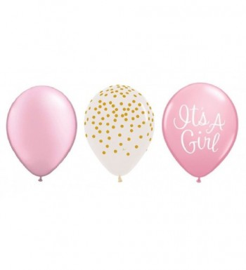 Count PEARL CONFETTI Shower Balloons