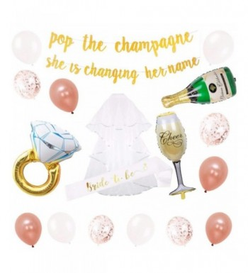 Bachelorette Decoration Supplies Confetti Champagne