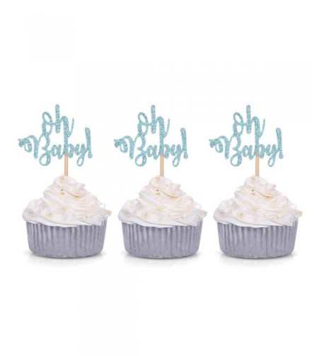 Glitter Cupcake Toppers Birthday Decorations
