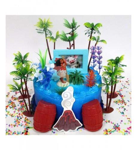 Birthday Cake Featuring Decorative Accessories