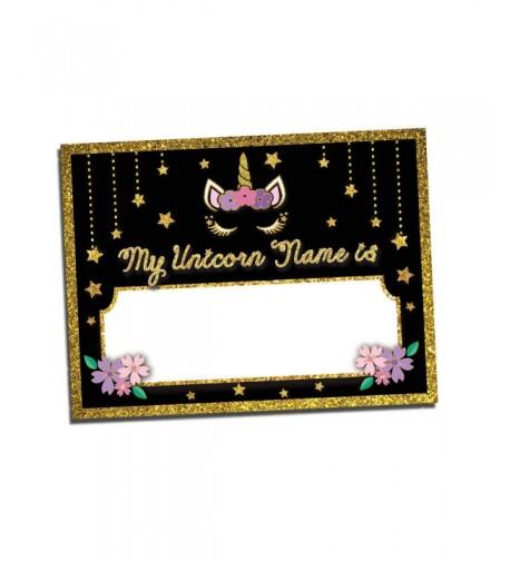 Unicorn Name Tags Birthday Party