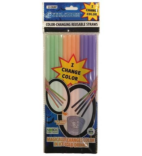 Halloween Trick Treat Change Straws